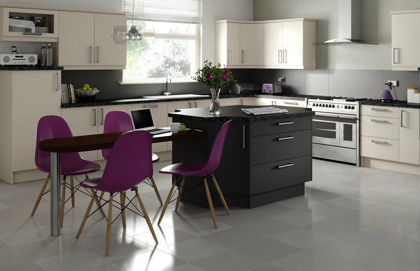 Premier duleek kitchen doors in mussel and graphite by for Homestyle kitchen doors