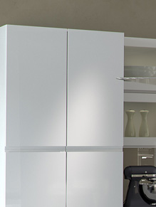 Close up of High Gloss White and High Gloss Anthracite kitchen & Kitchen Cupboard Door Range by HOMESTYLE pezcame.com
