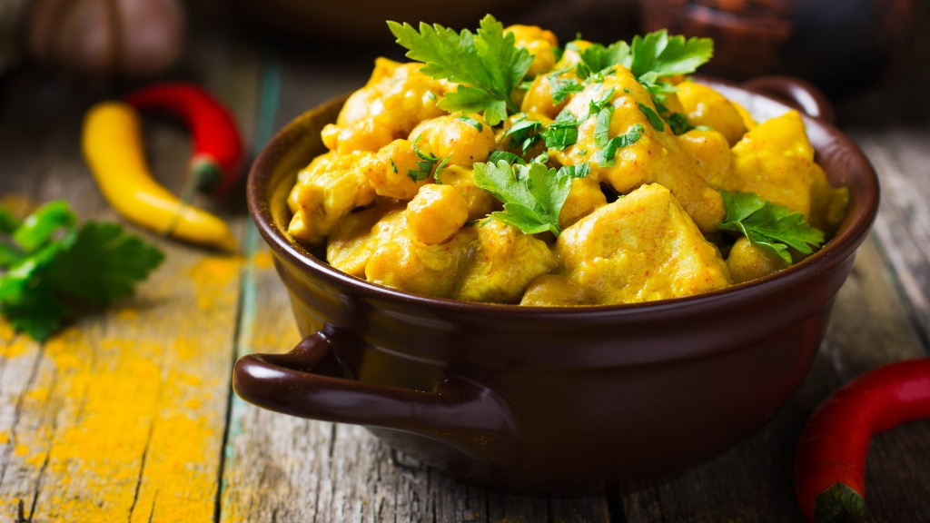 A hearty bowl with turmeric