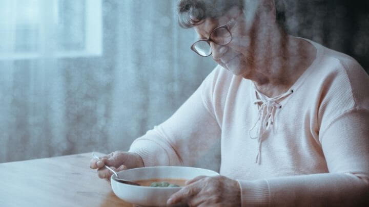 Older woman with lack of appetite
