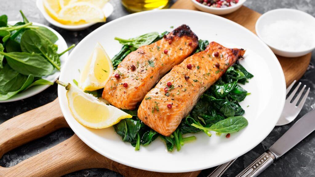 Anti-inflammatory and Antioxidant Spinach and Salmon