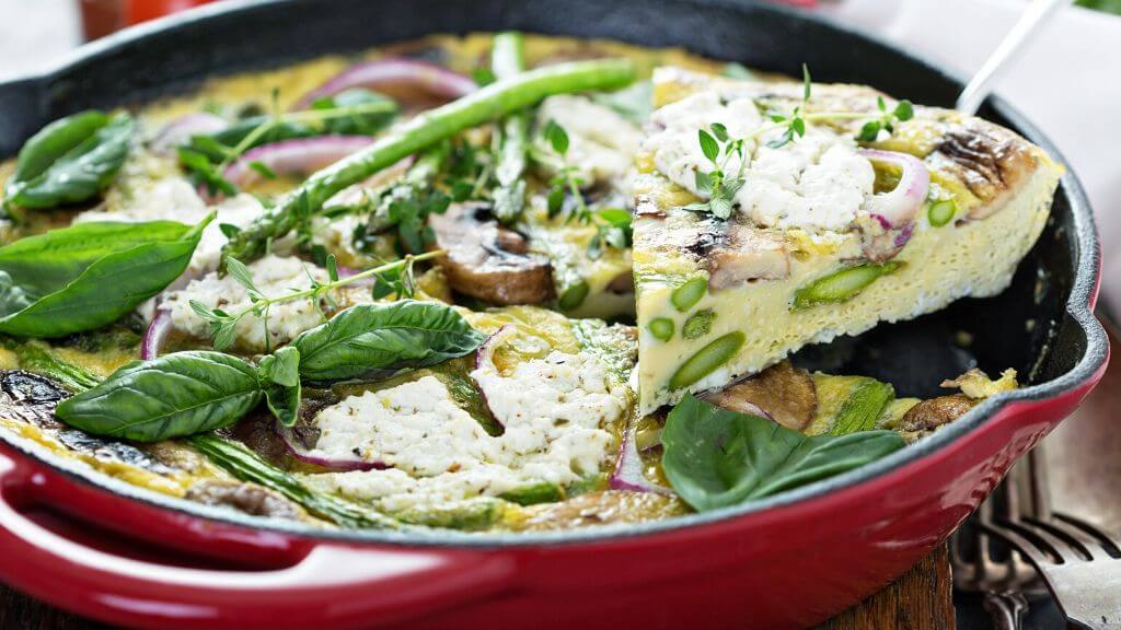 Asparagus And Goat Cheese Frittata For Men S Health 1md