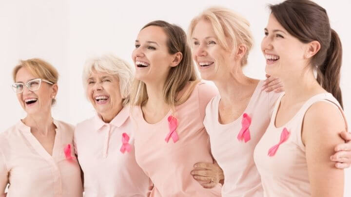 Women of all ages support pink ribbons