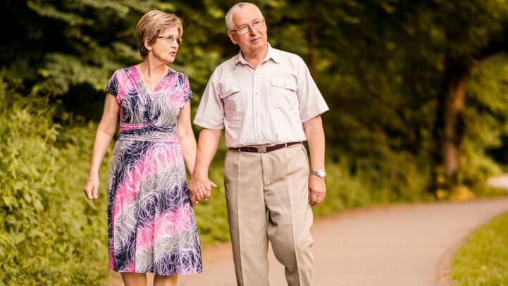 An couple on their daily walk