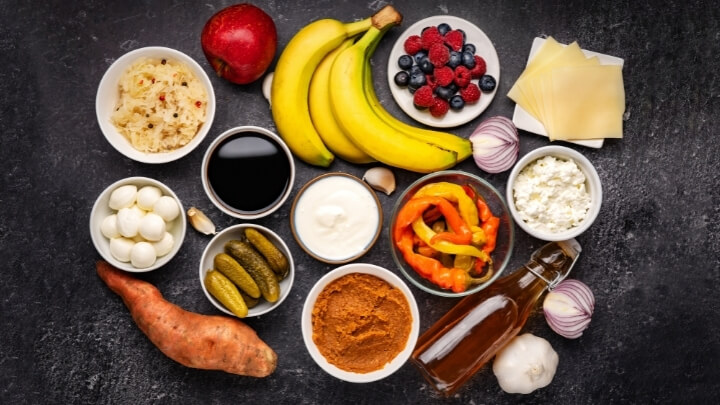 Probiotic and prebiotic foods for healthy gut bacteria