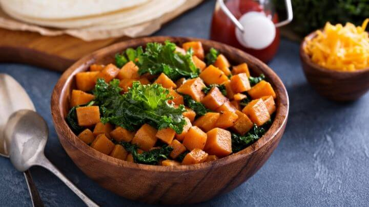 Sweet potato and kale