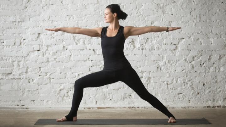 Warrior Two pose in yoga