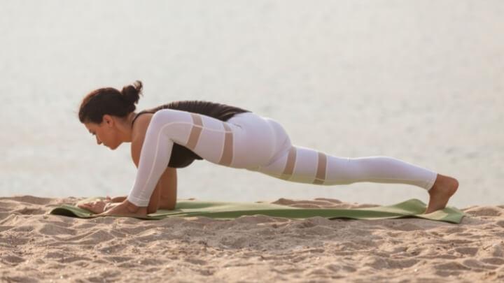 Lizard Pose in yoga