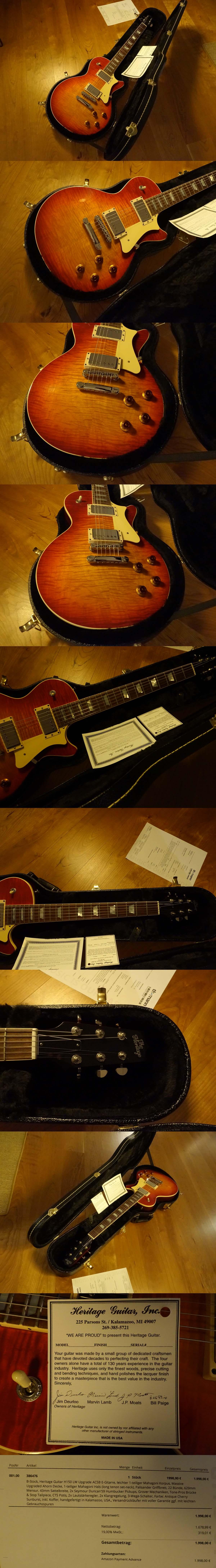 heritage guitar h150 lw upgrade. Black Bedroom Furniture Sets. Home Design Ideas