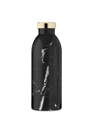 Black Marble Reusable Stainless Steel Water Bottle