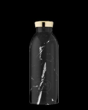 Black Marble Reusable Stainless Steel Water Bottle