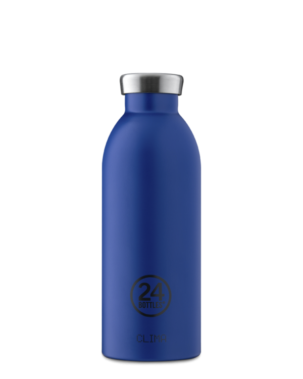 Gold Blue Reusable Insulated Bottle