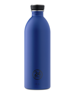 Gold Blue Reusable Bottle