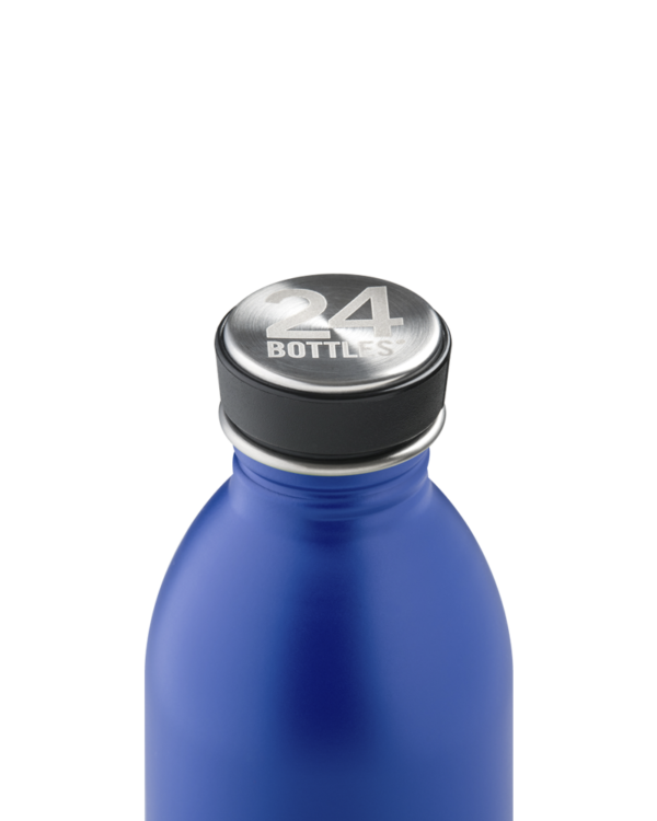 Gold Blue Reusable Water Bottle
