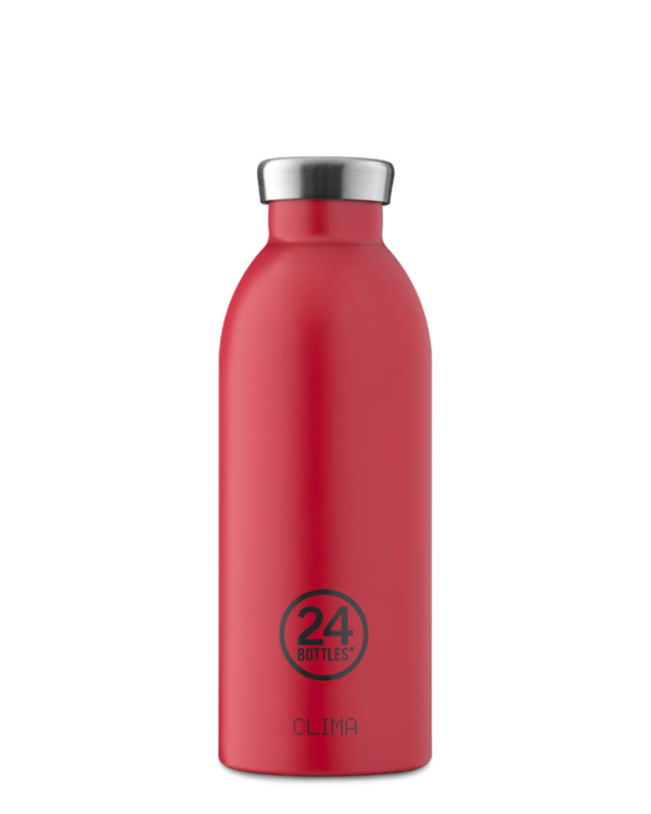 Hot Red Reusable Insulated Water Bottle