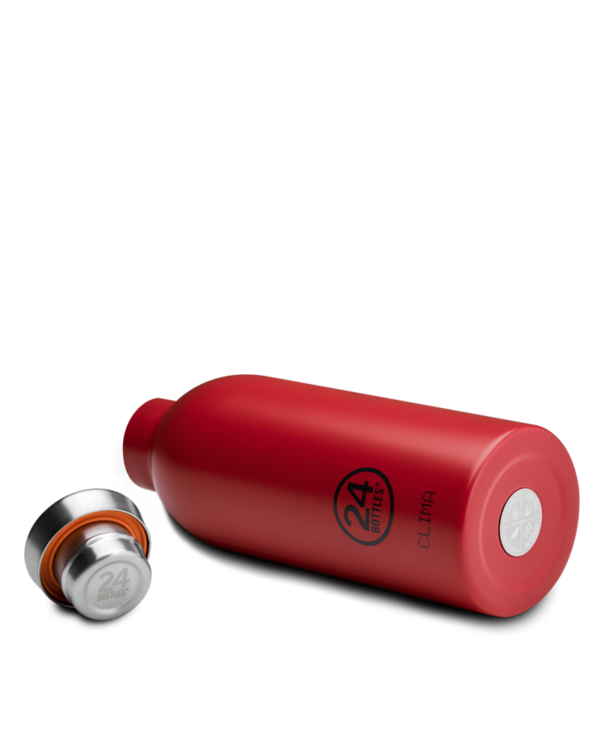 Hot Red Insulated Water Bottle