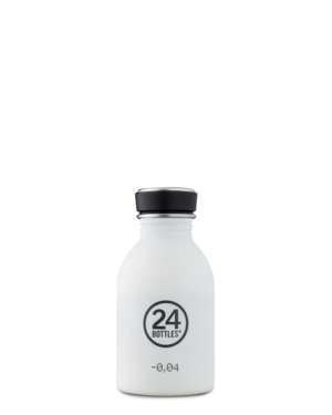 Ice White Reusable Stainless Steel Water Bottle