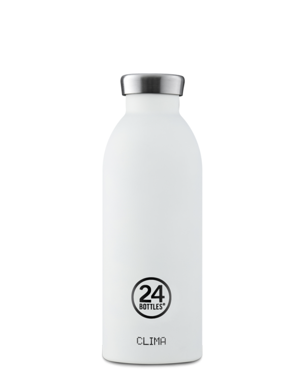 Ice White Reusable Insulated Stainless Steel Water Bottle