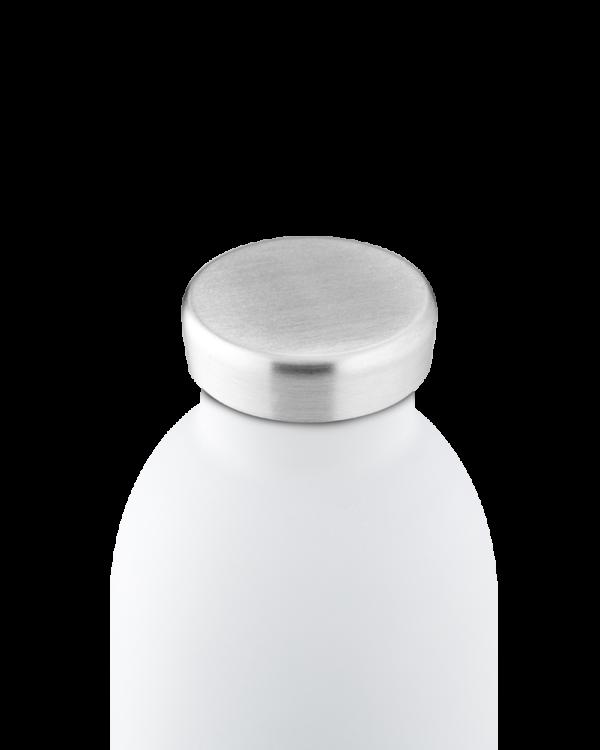 Ice White Reusable Stainless Steel Bottle