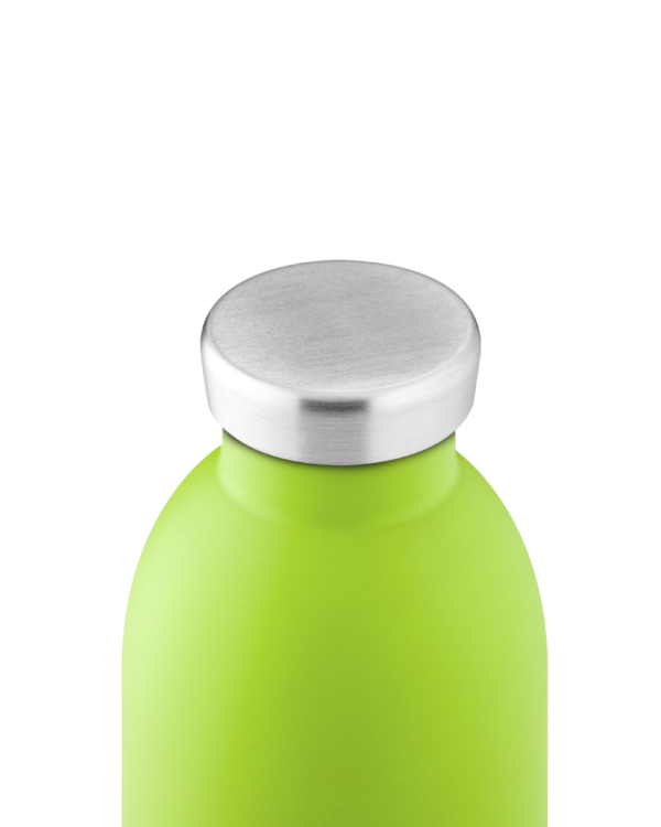 Lime Green Reusable Steel Water Bottle