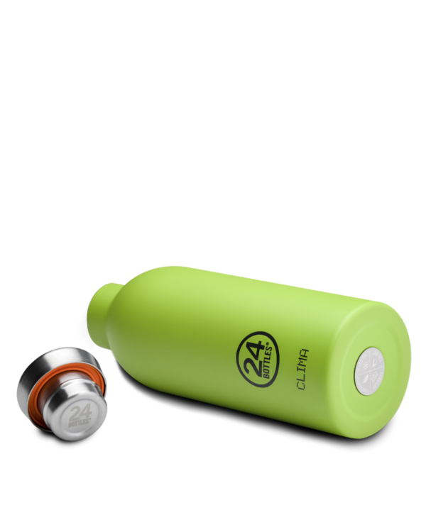 Lime Green Reusable Insulated Stainless Steel Bottle