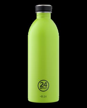 Lime Green Reusable Stainless Steel Bottle