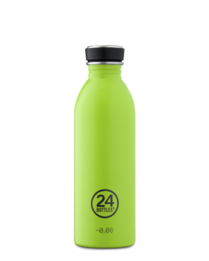 Lime Green Reusable Stainless Steel Water Bottle
