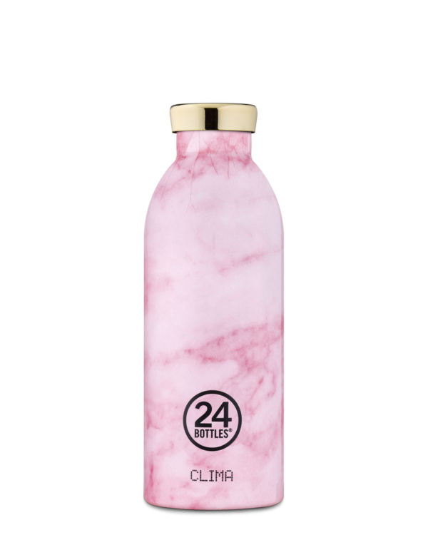 Pink Marble Reusable Insulated Stainless Steel Bottle
