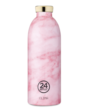 Pink Marble Reusable Insulated Water Bottle