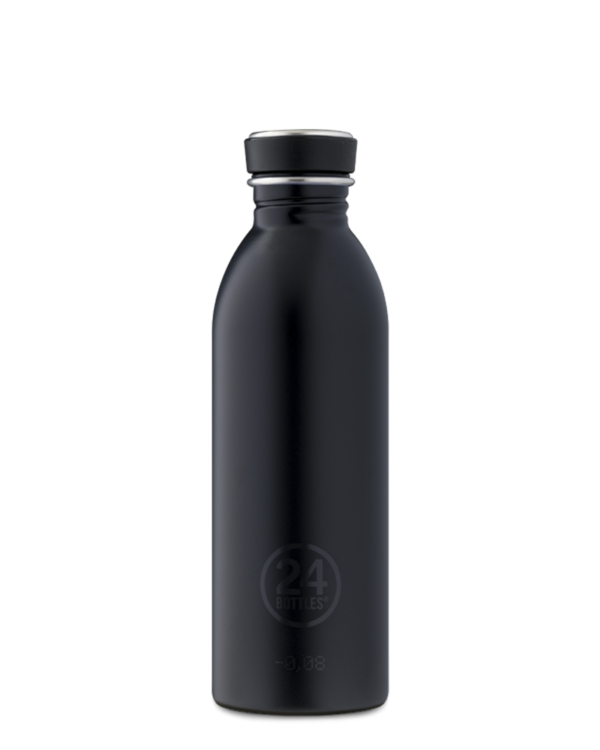 Tuxedo Black Reusable Stainless Steel Bottle
