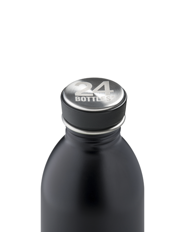 Tuxedo Black Stainless Steel Water Bottle