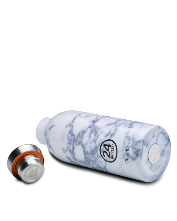White Marble Reusable Insulated Water Bottle