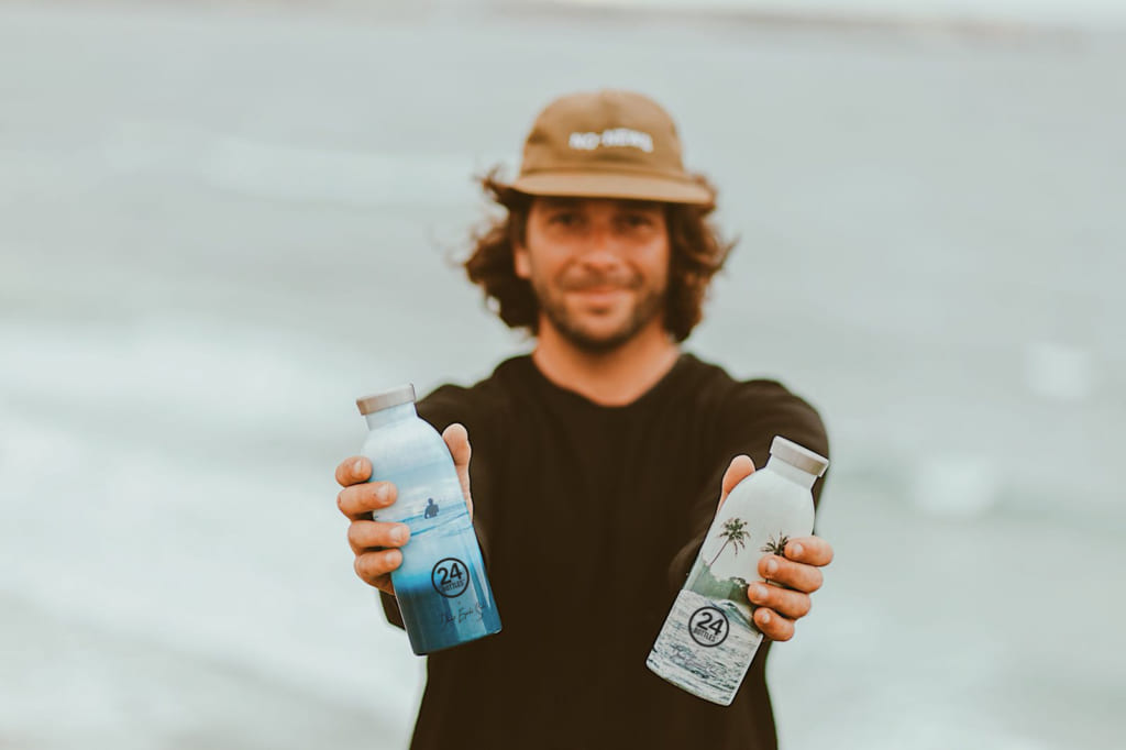 24Bottles and Daniel Espirito Santo: for The Love Of The Oceans reusable insulated stainless steel bottle