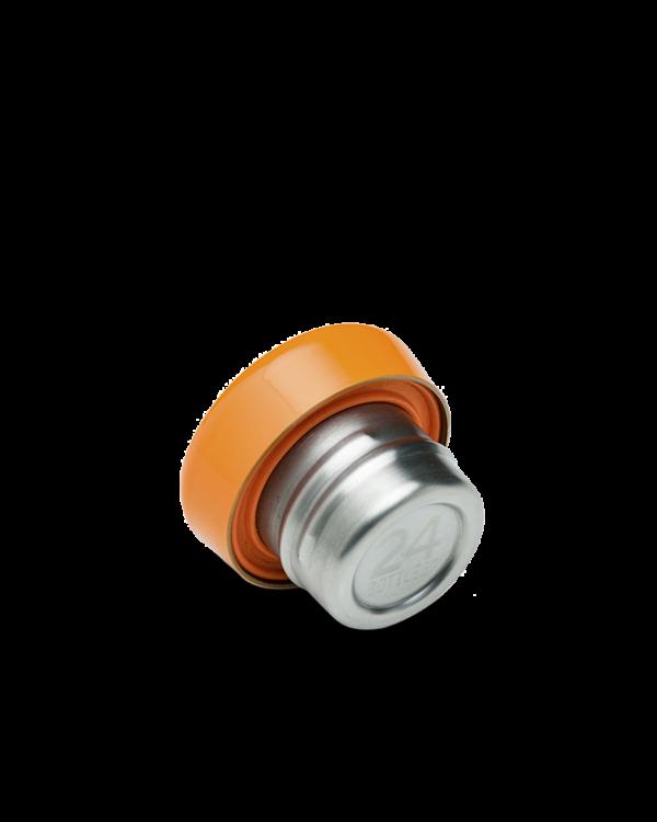 24Bottles Reusable Stainless Steel Water Bottle Clima Lid Orange