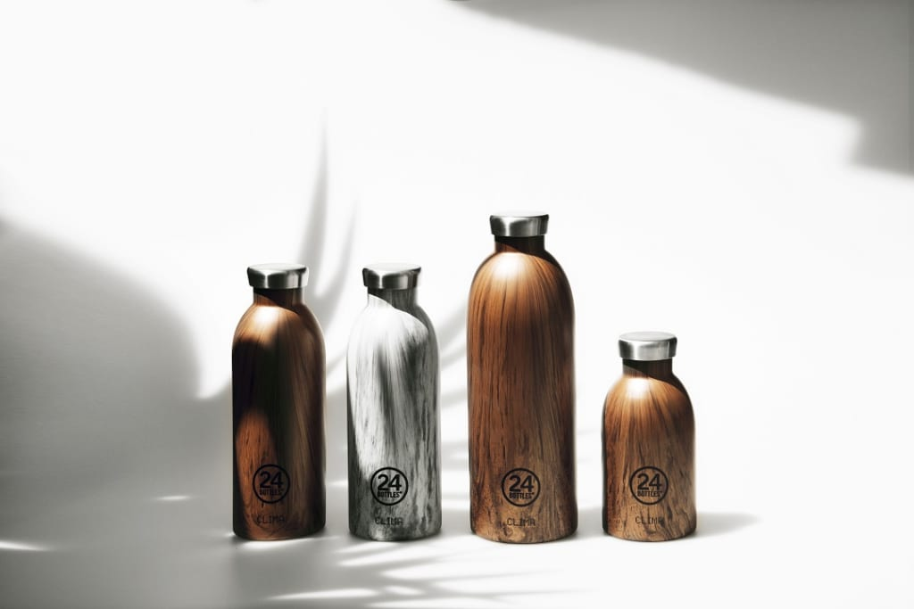 insulated stainless steel reusable water bottle