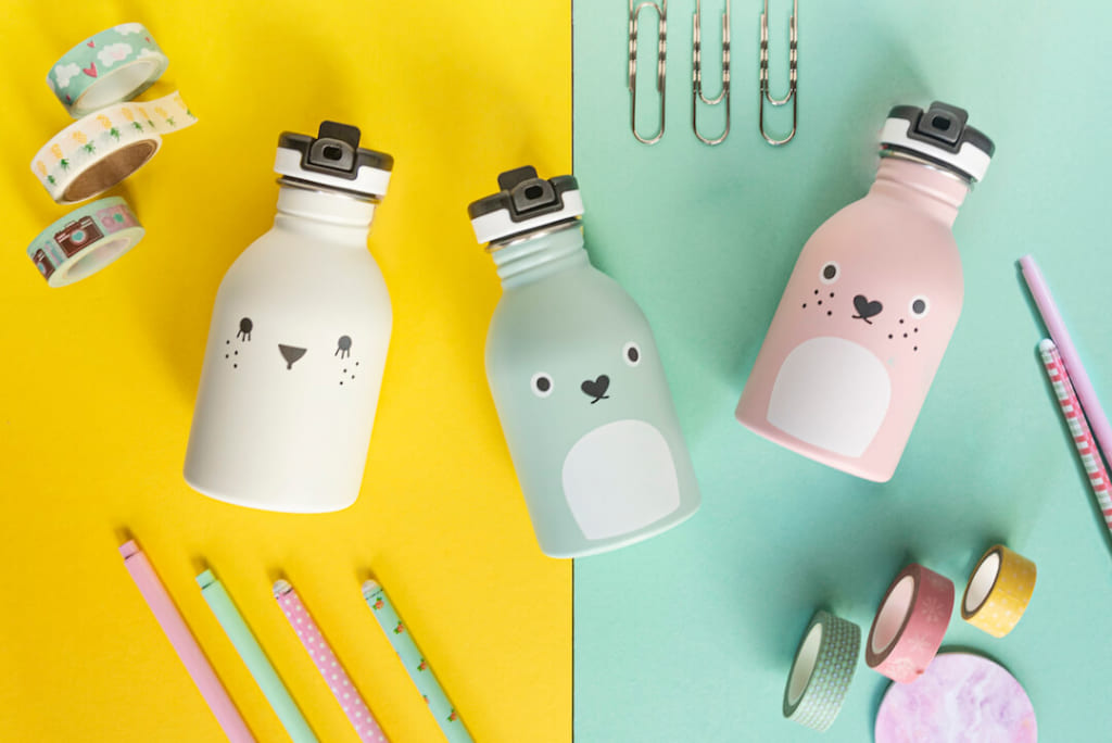 24Bottles x Noodoll back to school reusable stainless steel bottle