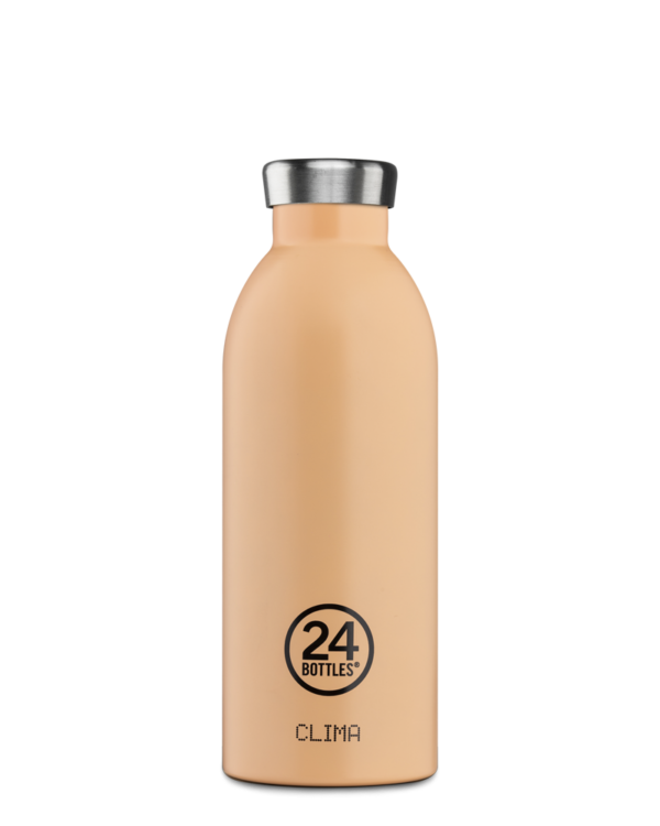 Peach Orange Reusable Water Bottle