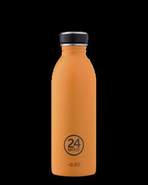 24Bottles Reusable Stainless Steel Water Bottle total orange