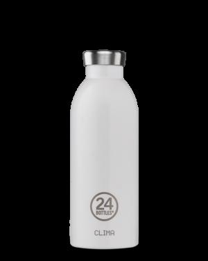 24Bottles Reusable Stainless Steel Water Bottle Arctic White
