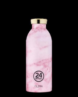 Pink Marble Borraccia Riutilizzabile Acciaio Inossidabile