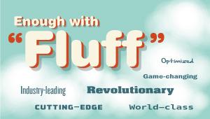 Word cloud with fluff B2B marketing words