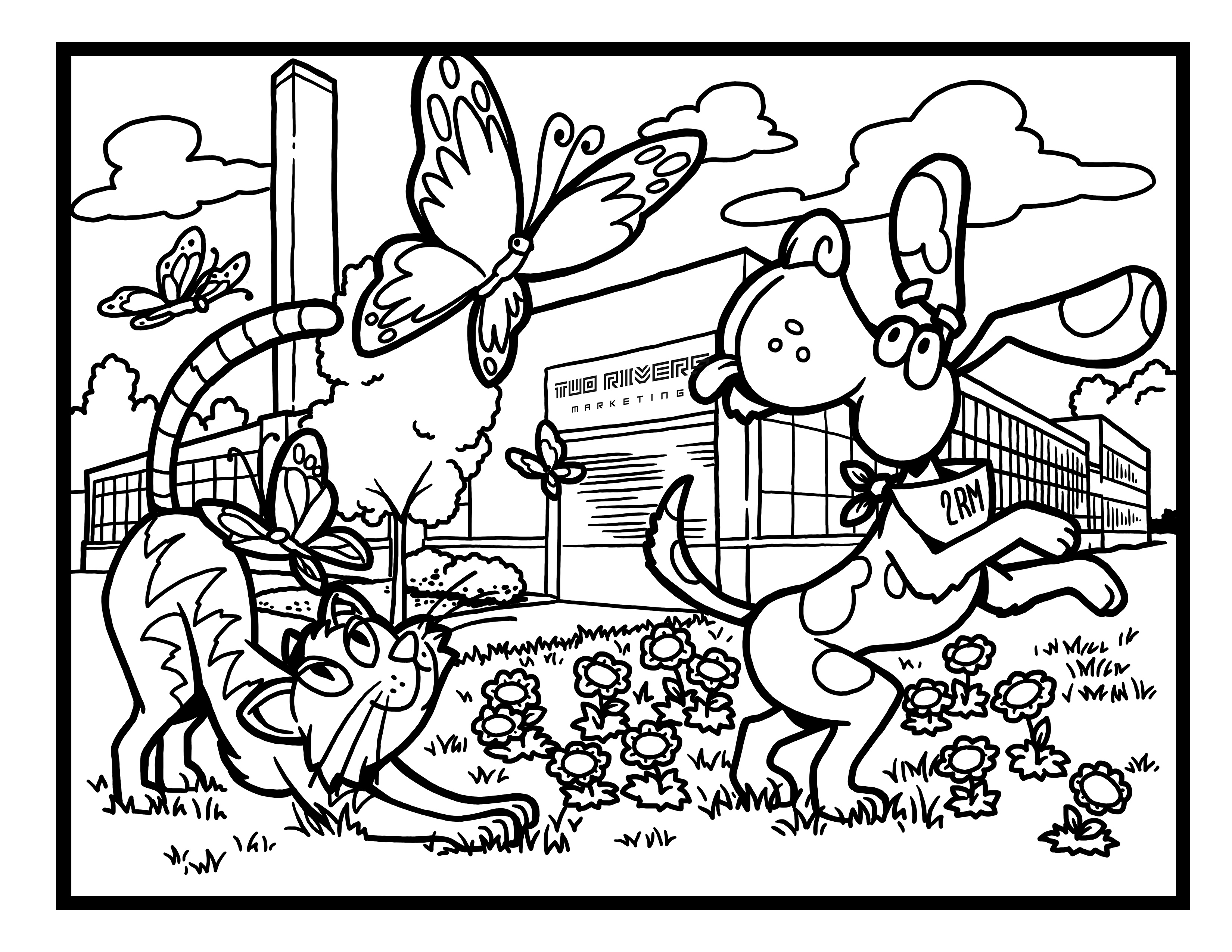 2RM Building Coloring Page