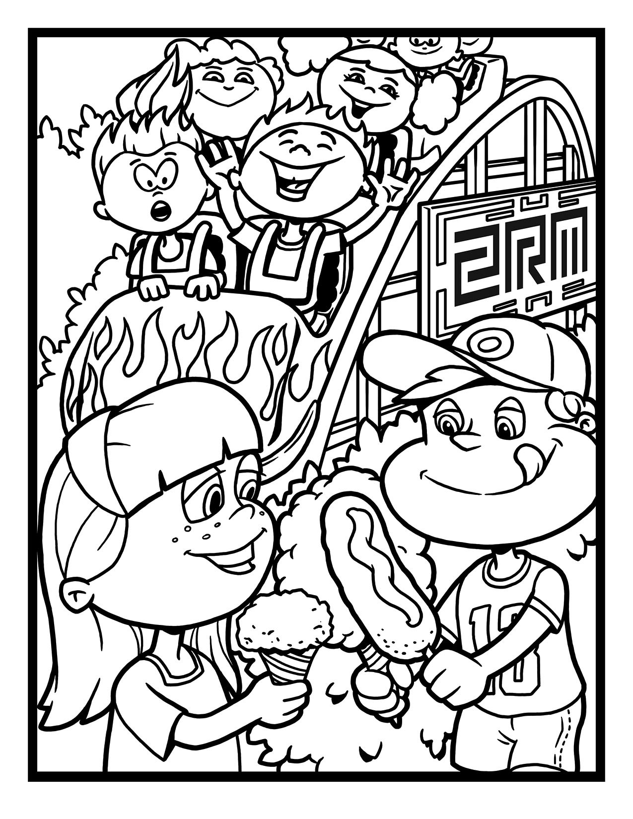 Two Rivers Marketing Coaster Coloring Page