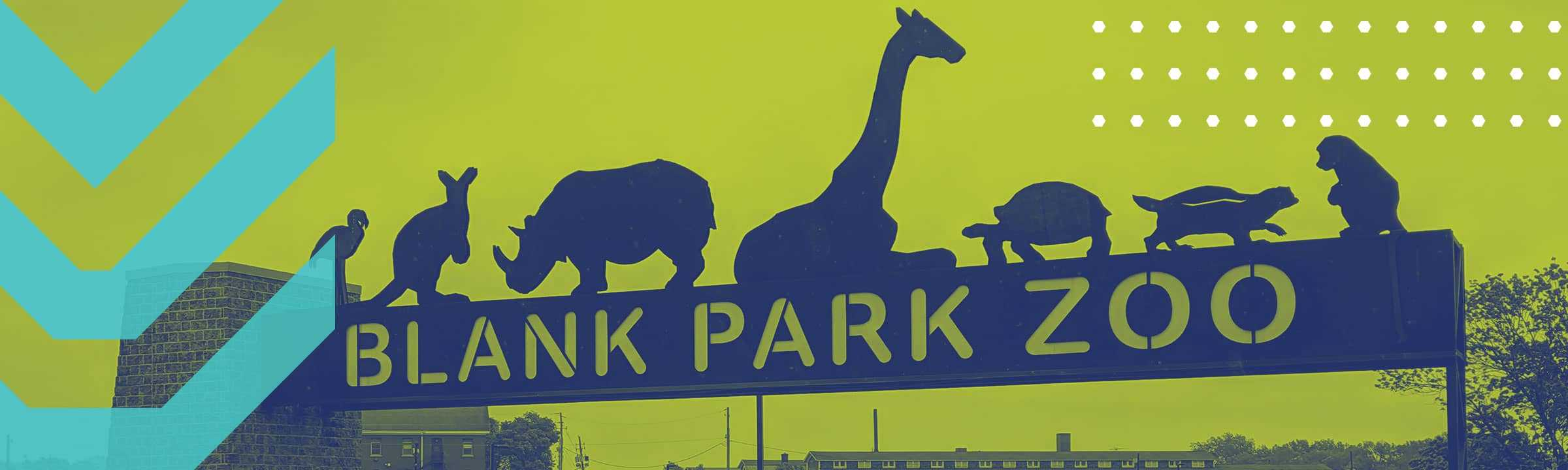 Blank Park Zoo Sign