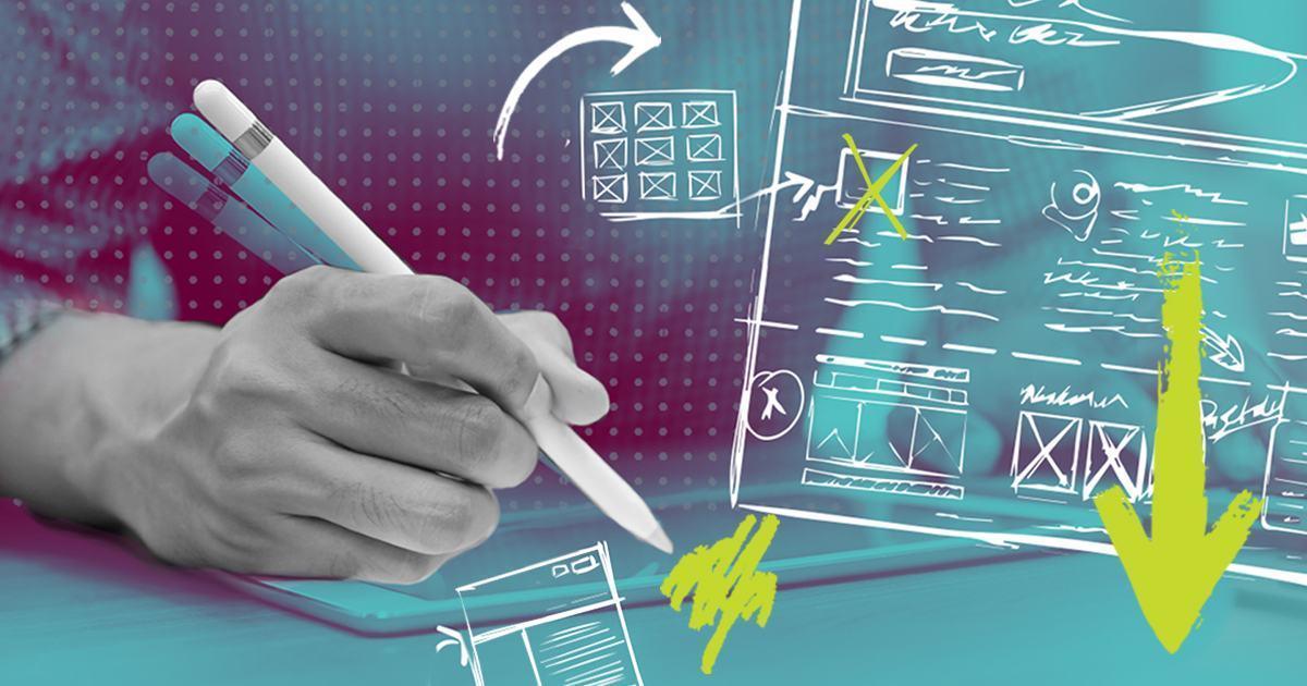 Man brainstorming creative ideas
