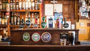 Beer tap at a neighborhood bar
