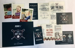Silver Award in Cross Platform: JDRF Gala Promotional Materials