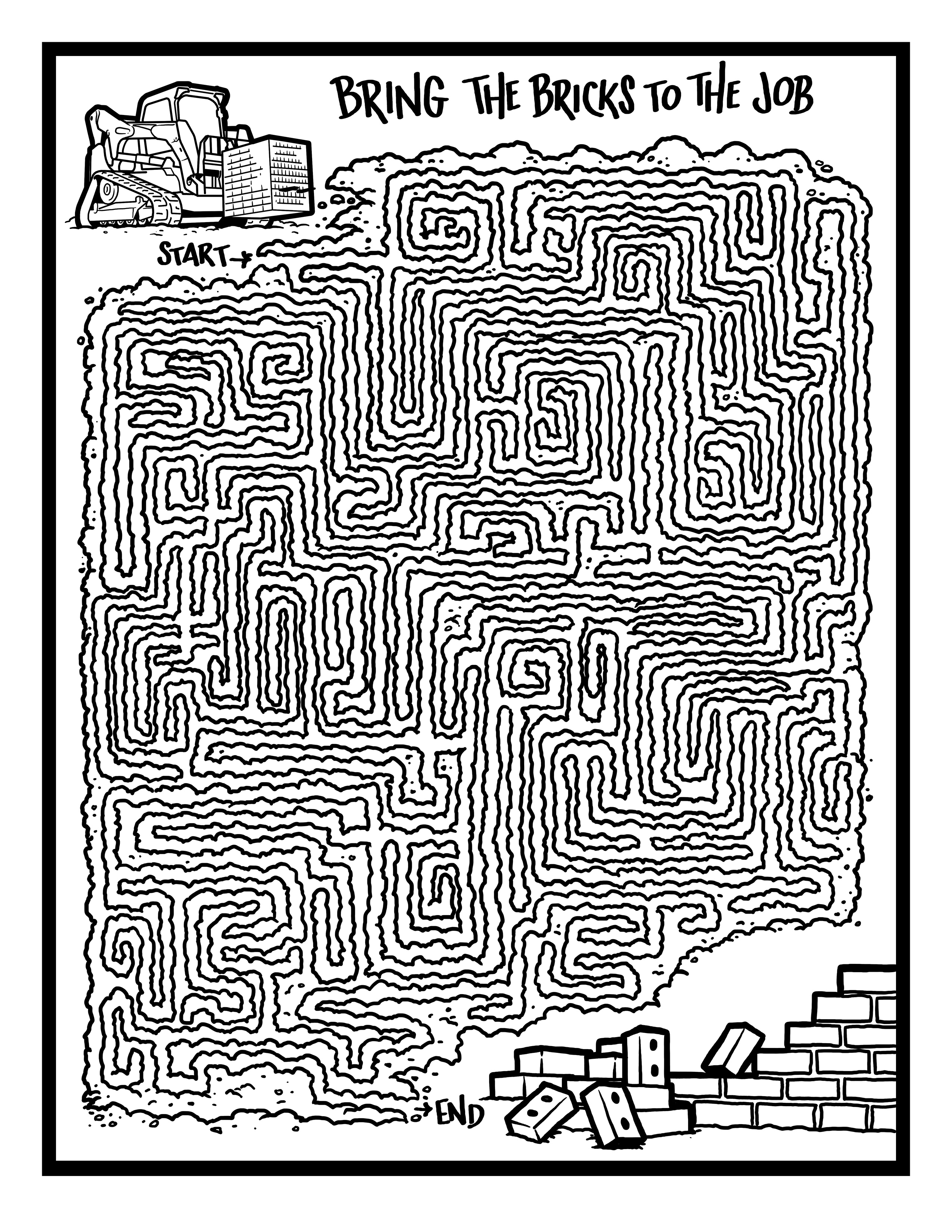 Maze 2RM Coloring Page