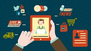 Illustration showing customer online behavior