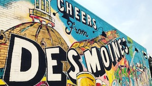 Welcome to Des Moines mural